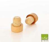 Dop pluta cu cap lemn 28*19,5-35h mm