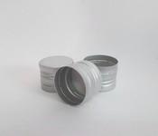 Capac aluminiu prefiletat D 30*24 mm Argintiu