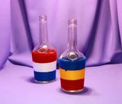 Sticla Brandy 500 ml in sfoara colorata
