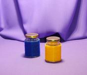 Borcan 110 ml Hexagonal in sfoara colorata