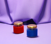 Borcan 106 ml Oval in sfoara colorata