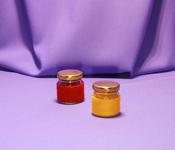Borcan 40 ml Rotund in sfoara colorata