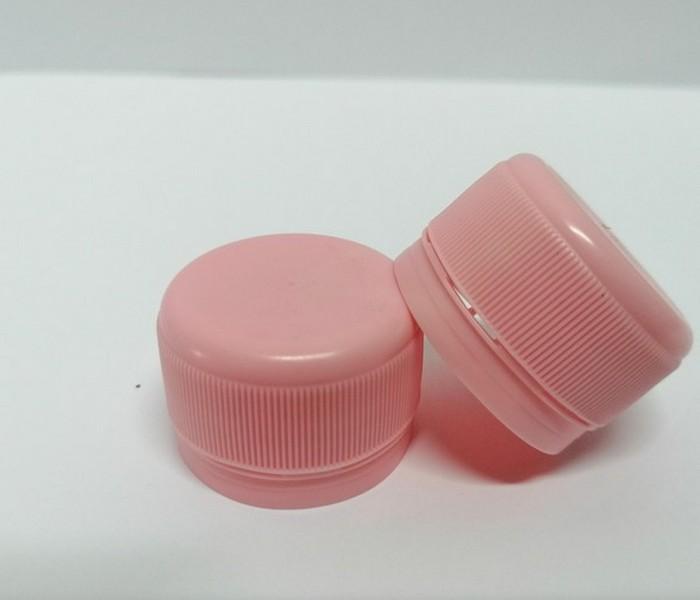 Capac plastic 28 mm filet roz